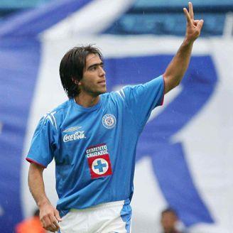 César Delgado, durante un juego con La Máquina en 2006