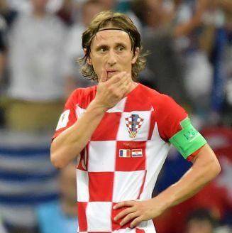Luka Modric se lamenta durante la Final de Rusia 2018