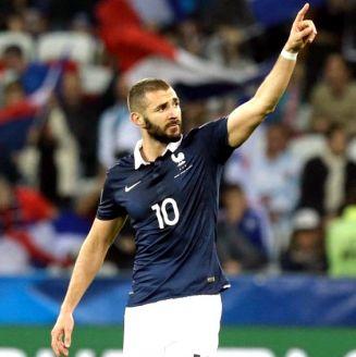 Karim Benzema, durante su último partido con la selección francesa