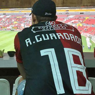 Guardado, en el Estadio Jalisco