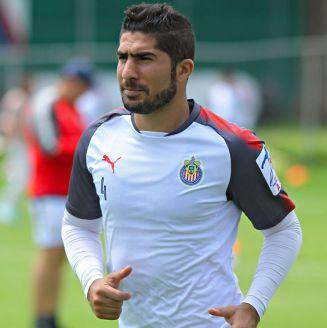 Pereira, durante un entrenamiento con Chivas