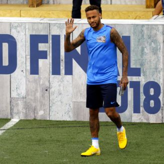 Neymar durante el torneo Neymar Jr's Five