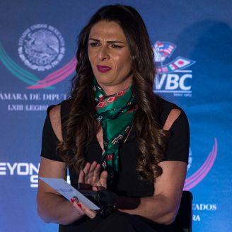 Ana Gabriela Guevara, en un evento de Beyond Sport