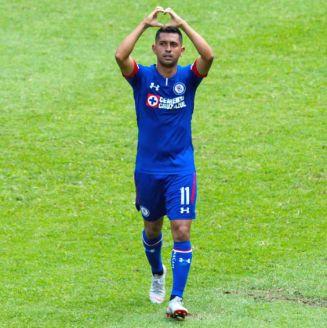 Elías Hernández celebra su gol ante el León