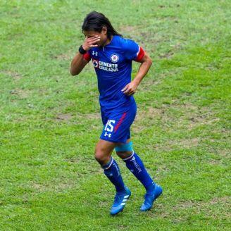 Gerardo Flores, durante el partido contra León