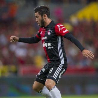 Juan Pablo Vigón durante un partido de Atlas