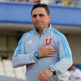 Guillermo Hoyos, previo a un partido con la U de Chile