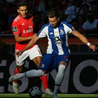 Salvio y Herrera durante el partido