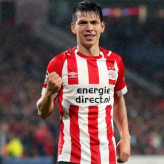 Lozano, durante un compromiso con el PSV