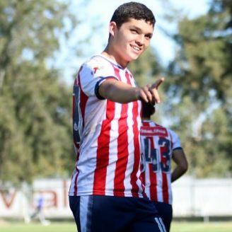 Sebastian Martinez festeja gol en la Liga MX Sub17
