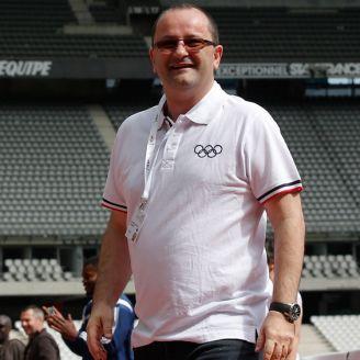 Patrick Baumann durante una visita al Stade de Fance