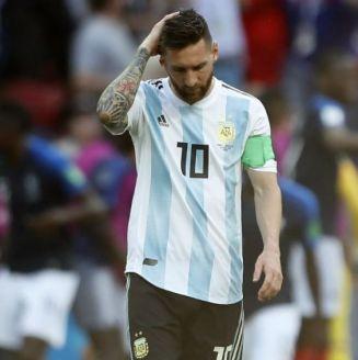 Messi, en lamento durante un juego en Rusia 2018
