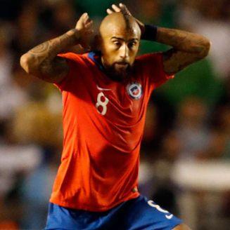 Arturo Vidal en un partido con la selección chilena