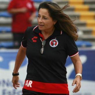 Andrea Rodebaugh, en un partido de Xolos