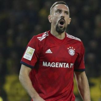 Ribéry durante el partido vs Dortmund