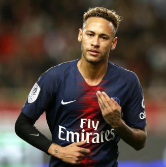 Neymar durante un encuentro contra el Mónaco