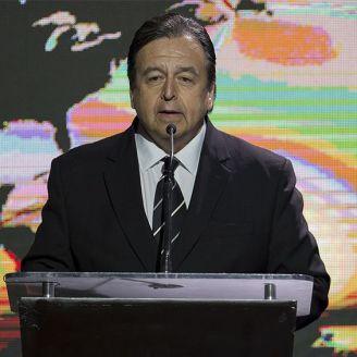 Antonio Moreno, durante la investidura 2018