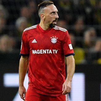 Ribery en el encuentro contra el Borussia Dortmund