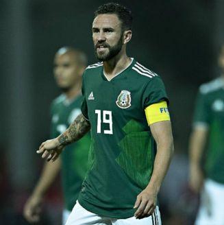 Miguel Layún, en el juego entre Argentina y México en Córdoba