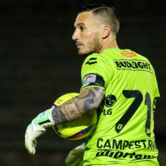 Cristian Campestrini durante un partido con Dorados