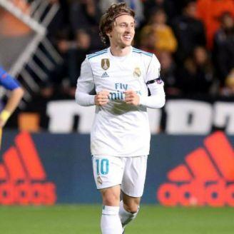 Luka Modric celebra un gol ante el Apoel