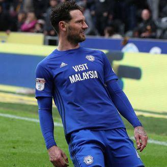 Morrison celebra una anotación con Cardiff