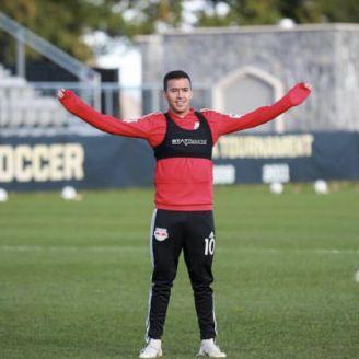 Gamarra durante entrenamiento del New York Red Bull