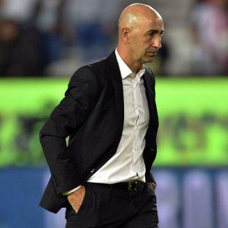 Francisco Ayestarán durante un partido contra León