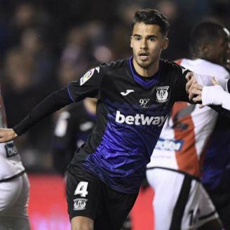 Reyes durante un partido del Leganés