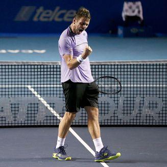 Stan Wawrinka celebra su victoria en el Abierto Mexicano de Tenis