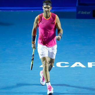 Rafael Nadal celebra su victoria en el Abierto Mexicano