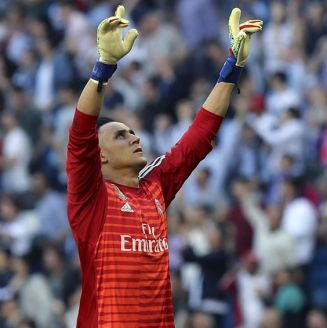 Keylor Navas celebra gol del Real Madrid