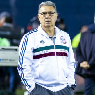 Gerardo Martino durante un encuentro ante Chile