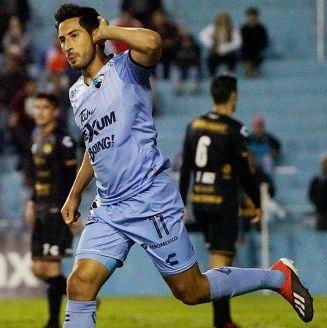 Pérez festeja un gol con Tampico Madero