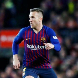 Arthur, durante un partido del Barcelona