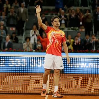 David Ferrer se despide del público en Madrid