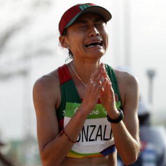 Guadalupe González, después de cruzar la meta en Río 2016