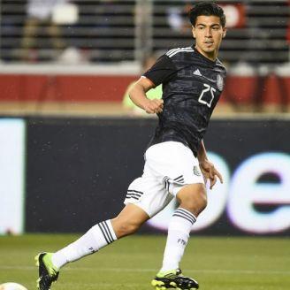 Gutiérrez, en un partido de Selección