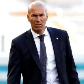 Zidane, en un partido de Real Madrid