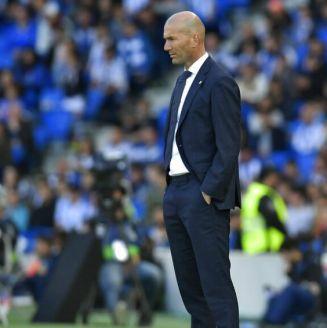 Zidane durante derrota del Real Madrid frente al Betis