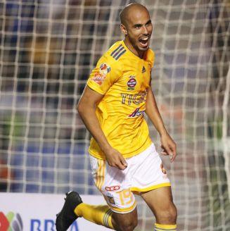 Guido Pizarro celebra una anotación frente a Pachuca
