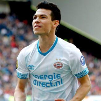 Hirving Lozano celebra e juego del PSV