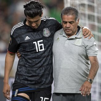 Gutiérrez camina con ayuda tras la lesión