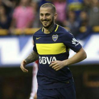 Benedetto, durante un partido de Boca Juniors