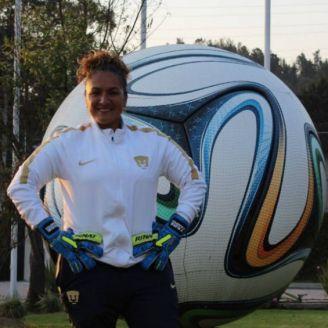 Tere Campos, durante una práctica