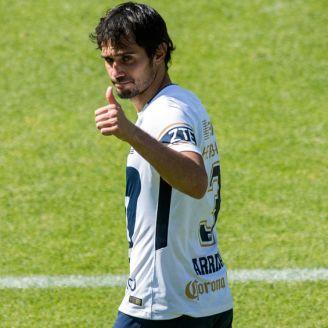 Alejandro Arribas, saluda a la afición auriazul
