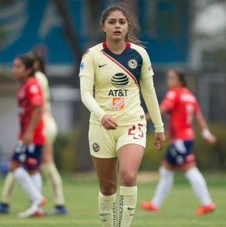 Jana Gutiérrez durante un partido contra Veracruz