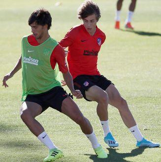 Joao Félix, en entrenamiento con Atlético de Madrid