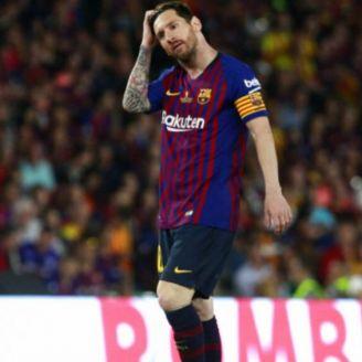 Lionel Messi, en un partido con el Barcelona