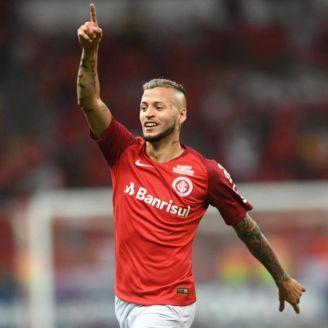 Nicolás López, en un partido del Inter de Porto Alegre